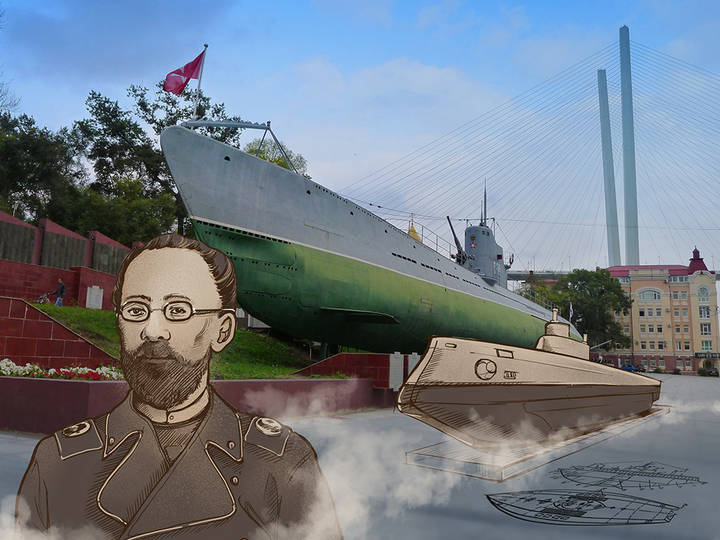 "M. P. Naletov and  the world's first submarine ""Crab"""